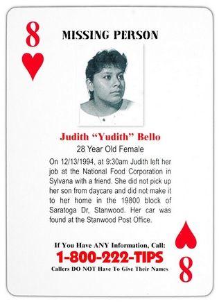 Judith Bello Cold Case Card