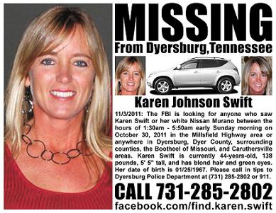 Karen Swift Missing Poster